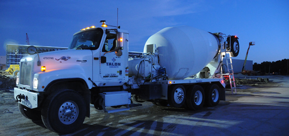 Talon Concrete Truck at night